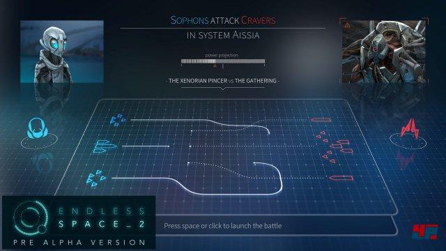 Vor einem Weltraumkampf legt man die Taktik fest.