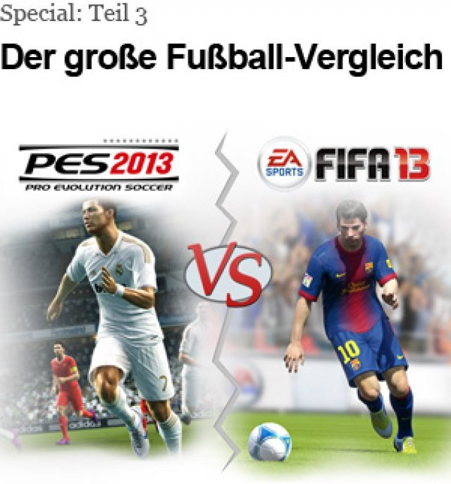 Wir haben FIFA 13 und PES 2013 in vier groen Bereichen verglichen.