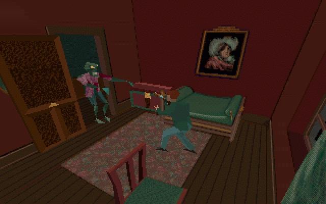 Alone in the Dark<br><br>Junge, Junge, ist das lange her! Nach heutigen Maßstäben ist das einzig Gruselige an dem Spiel ja die Grafik. Schaut euch den Polygonmatsch doch nur mal an. Trotzdem war Alone in the Dark (wir meinen übrigens nicht den gar grausigen fünften Teil) damals einzigartig: Zum ersten Mal konnte man knarrende Holzplanken und versteckte Winkel in 3D sehen - oder eben nicht... Und dann der Moment, den Resident Evil später souverän kopierte: Es ist still, der Boden ächzt verdächtig und plötzlich springt ein hässliches Monster durchs Fenster. Genredefinierende Schockschwenot! 2134578