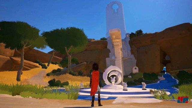 Ein Junge strandet auf einer idyllisch anmutenden Insel - die auf Switch allerdings auch permanente Ruckler sowie deutlich weniger Effekte zeigt.