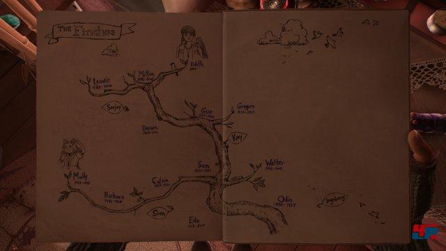 Mit der Zeit füllt sich die Familienchronik - der Stammbaum reicht zurück bis Odin Finch.