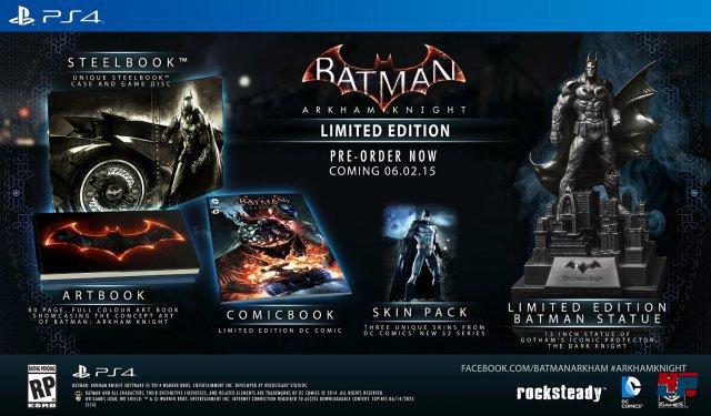 Batman: Arkham Knight Limited Edition - PS4-Version als Beispiel