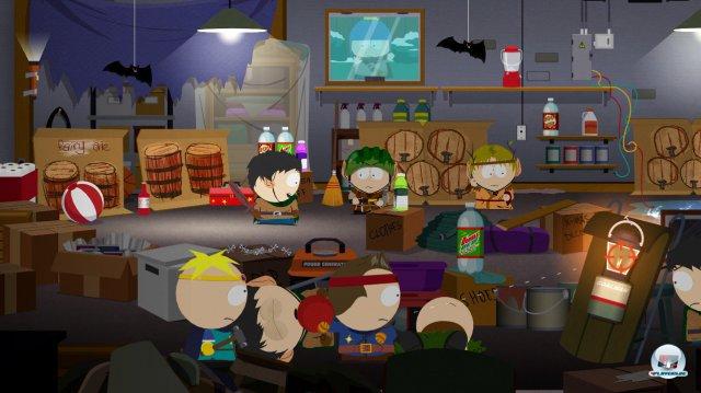 Dank der Original-Assets der Serie sowie der englischen Sprecher kommt umgehend South-Park-Flair.