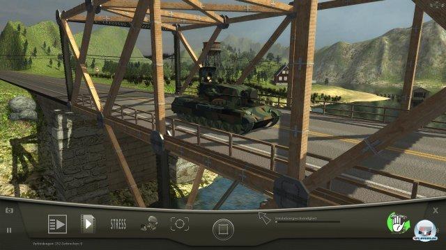 Panzer stellen die Brücken vor besonders schwere Herausforderungen.