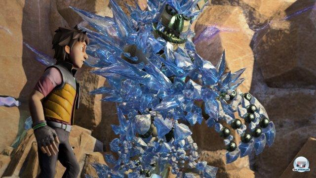 Knack als formwandelnde Hauptfigur ist das visuelle Highlight des PS4-Starttitels.