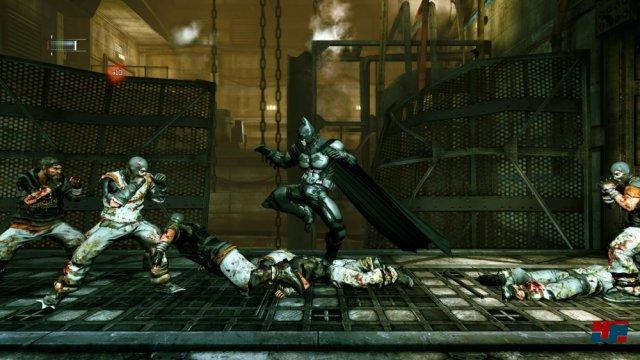 Auf PC, PS3 und 360 k�mpft sich Batman erstmals in HD durch Blackgate.