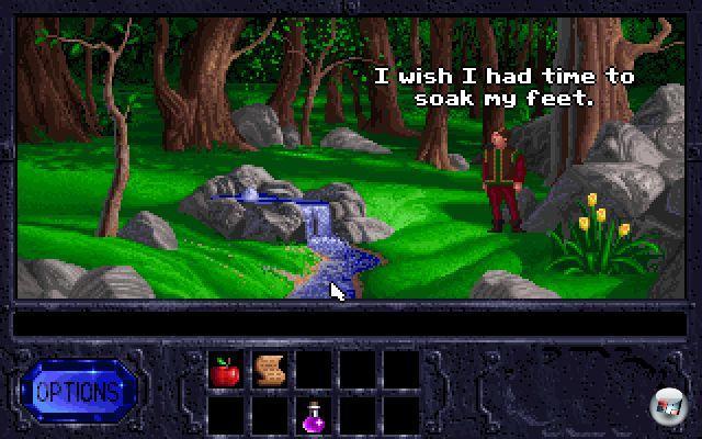 <b>Legend of Kyrandia</b><br><br>In den 90ern gab es zwar viele beherzte Versuche, aber so richtig konnte niemand gegen das Adventure-Bollwerk, bestehend aus Lucas Arts und Sierra, ankommen. Einer der hartn�ckigsten Empork�mmlinge hatte mit Adventures urspr�nglich gar nichts am Hut: Westwood war mehr mit Echtzeitstrategie-Genre beheimatet, wof�r Dune 2- und Command&Conquer-Spieler auch durchaus dankbar waren. Und dennoch bekamen die in Las Vegas ans�ssigen Entwickler mit der �The Legend of Kyrandia�-Trilogie ganz wunderbare, elegant designte und teilweise herrlich alberne Point-n-Klick-Abenteuer gebacken. Mehr davon! Es gibt viel zu wenig Spiele mit Klimperkopp-Narren!