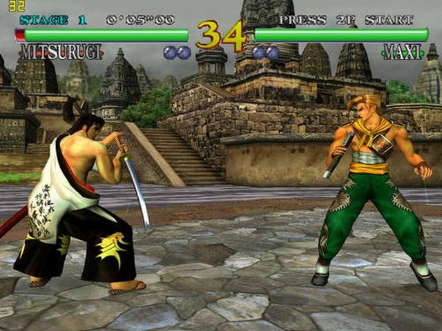 <br><br>Die ersten Spiele f�r Dreamcast wie Sonic Adventure, Sega Rally 2 oder Blue Stinger waren...nun ja...nett, aber haben einen PC-Spieler noch nicht so richtig aus den Socken gehauen. Das �nderte sich mit Soul Calibur: Das Beat em Up von Namco zeigte zum ersten Mal, welche Power in der Konsole steckt! Eine solche grafische Pracht hatte man bis dato nicht gesehen. Und das dynamische Kampfsystem sorgte zusammen mit der Virtua Fighter-Serie endlich f�r ein Gegengewicht zu Tekken - der Sony-Pr�gelserie schlechthin. Selbst heute kommt man ins Staunen, wenn man Soul Calibur auf Dreamcast in Aktion sieht, vorzugsweise im Zusammenspiel mit der VGA-Box. 2068268
