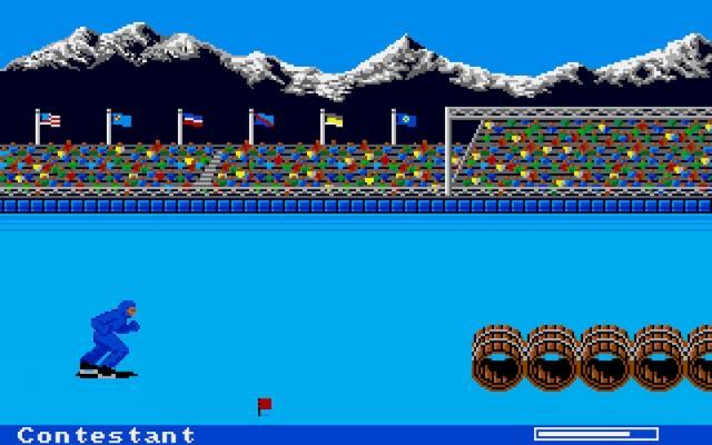 World Games<br><br>Die etwas andere Olympiade: Zwei Jahre lang gab es Summer und Winter Games – dann hatte Publisher Epyx vom ernsten Bier die Nase voll. Und so gibt es in World Games aus dem Jahre 1986 statt Rudern oder Eislaufen länderspezifische Spezialitäten wie japanisches Sumoringen und das typisch deutsche Barrel Jumping. Eventuell ist den Entwicklern wenigstens im Nachhinein aufgefallen, dass über Fässer springende Eisskater hierzulande den Bekanntheitsgrad einer subtropischen Glupfaugenschnecke genießen. Schließlich hatten sie gegen Ende der Entwicklung endlich bemerkt, dass ihre Darstellung des Baumstammwerfens ganz und gar nicht der Realität entspricht... Na ja, als es in den Folgejahren mit den California Games ans Surfen, Skaten und BMX-Fahren ging, hatte es Epyx mit dem Nagel und dem Kopf zum Glück wieder leichter. 2120493
