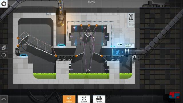 In dieser Testkammer müssen die Energiekugeln im richtigen Winkel abgelenkt werden - alles eine Frage der Aufhängung.