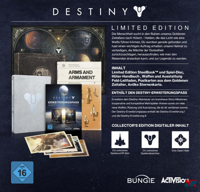 Destiny Limited Edition; 109,99 Euro