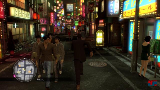 Kazuma Kiryu sowie der zweite Protagonist Goro Majima verbringen viel Zeit im Tag- und Nachleben in Tokio und Osaka.