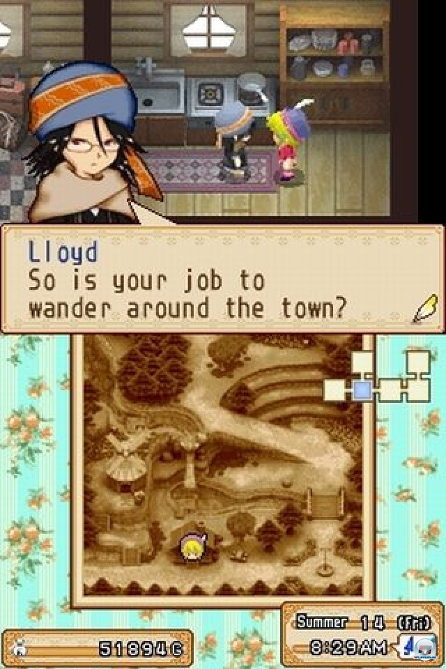 Screenshot - Harvest Moon DS: Grand Bazaar (NDS)