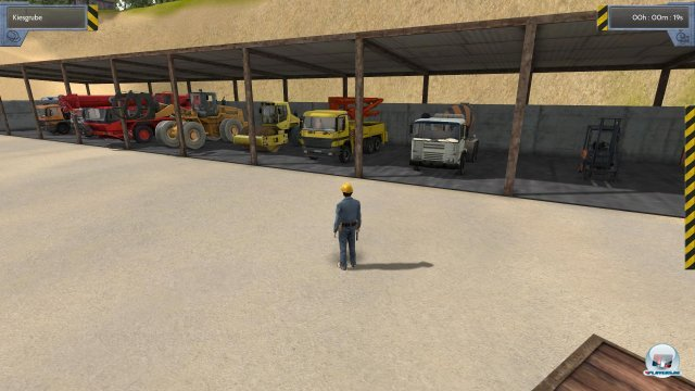 Im Spielverlauf kommt ein ganz schöner Fuhrpark an Baumaschinen zusammen.