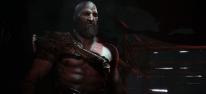 Kratos lässt die Axt kreisen