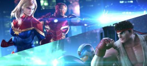 Chris Redfield und Thor Vs. Iron Man und Mega Man