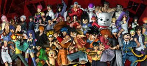 Mega-Auflauf japanischer Comicstars