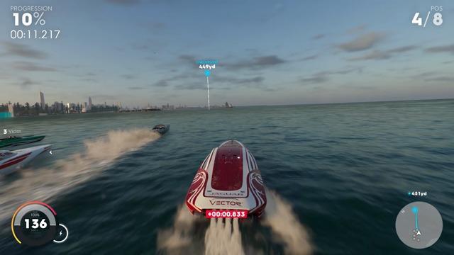 Exklusive Spielszenen: Das erste Speedboat-Rennen