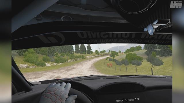 VR-Rallye-Spielszenen: Im Toyota durch Sardegna