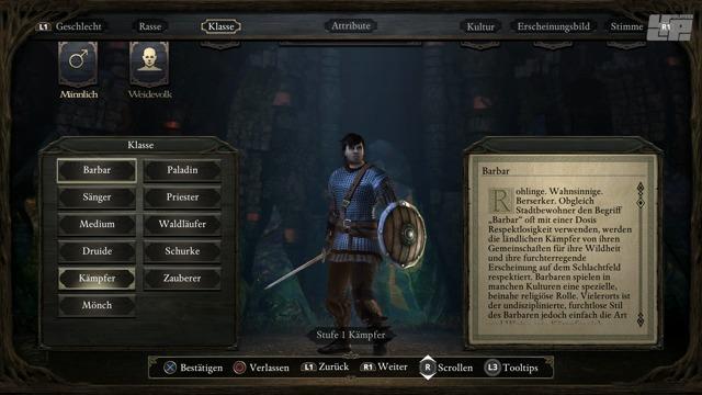 Charakter-Erstellung auf der PS4