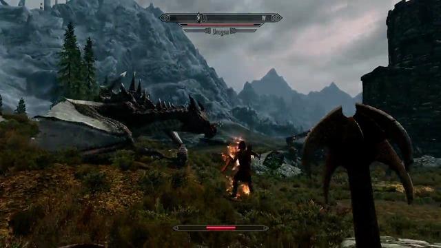 Drachen-Spielszenen