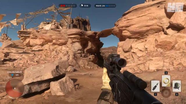 Survival-Spielszenen (Tatooine)