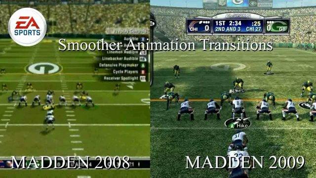 Vergleich zw. Madden 08 & 09